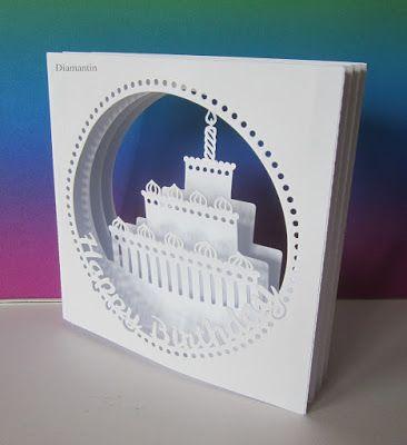 Diamantin´s Hobbywelt: Tunnelkarte - Torte