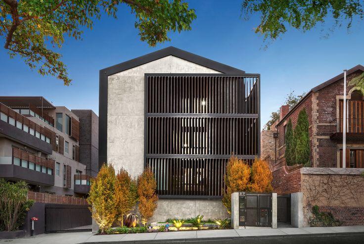 4/27 Darling Street South Yarra 3141 VIC (Featuring Louvreline motorised vertical sun louvres in black anodised finish) - jelliscraig.com.au