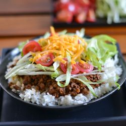 Taco rice is an adaptation of a favorite Mexican dish that is popular in Okinawa, Japan.