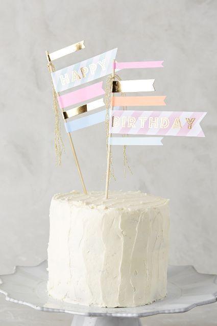 Happy Birthday Cake Flags - anthropologie.com #anthrofave