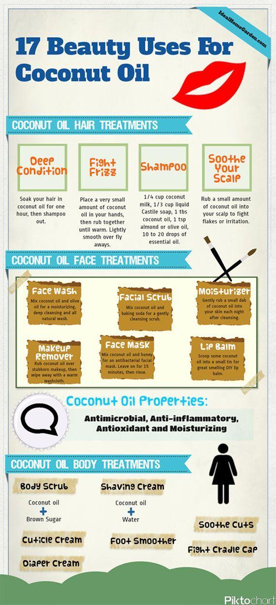 17 Beauty Uses for Coconut Oil   Pintertesting
