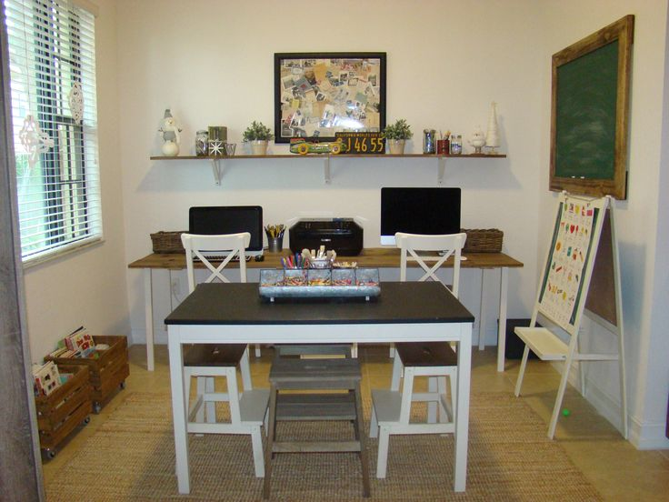 High Quality Homeschool Room. Chalkboard For Homeschool Rooms. Homeschool Table And  Desks. Ikea Hacks