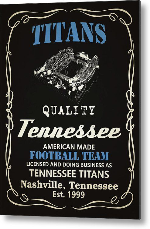 Titans Metal Print featuring the mixed media Tennessee Titans Whiskey by Joe…