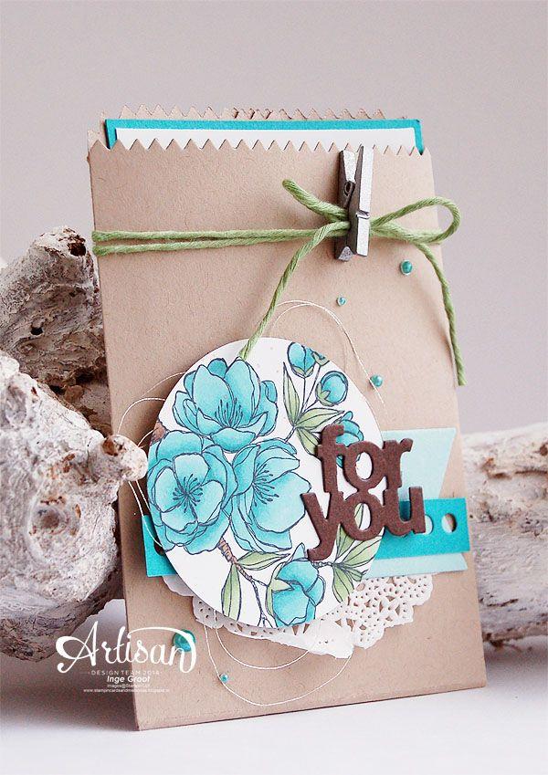 Bermuda Bay Assortment Stampin' Blendabilities Markers,Wild Wasabi Assortment Stampin'Blendabilities, Mini Treat Bag Thinlits Dies, Indescribable Gift stampset -Inge Groot-