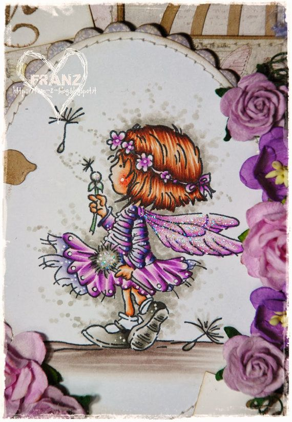 OOAK Handmade card by Franz Lili of the Valley by FranzShop
