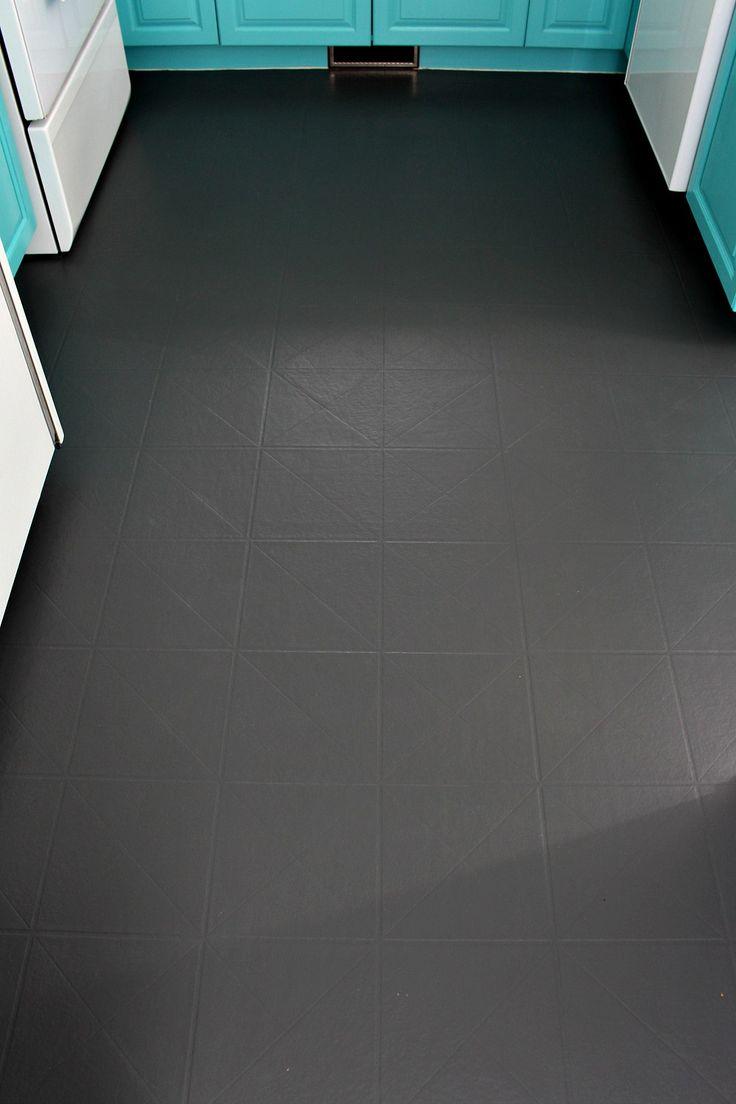 Painting linoleum bathroom floor - How To Paint A Vinyl Floor