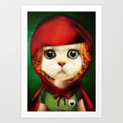 Red Art Print by zumzzet - $15.00
