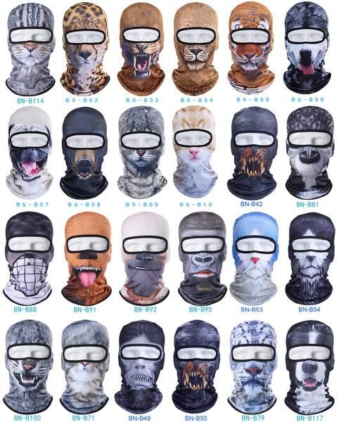 FuzWeb:3D Cat Dog Animal Bicycle Motorcycle Hats Balaclava Tiger Party Halloween Snowboard Helmet Winter Warmer Pet Full Face Mask