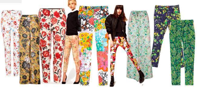 Летние брюки в цветочек