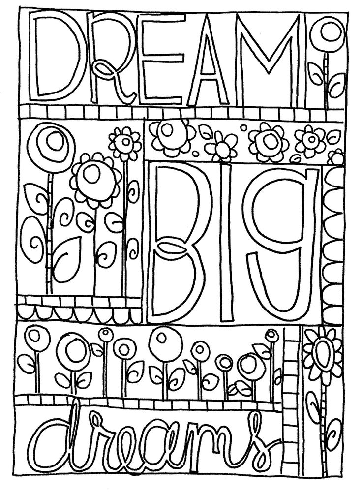 dream big coloring Google Search