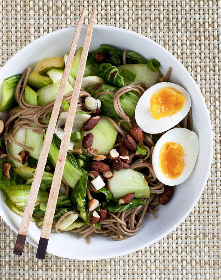 A hearty and delicious noodle bowl that comes together in about 15 minutes.
