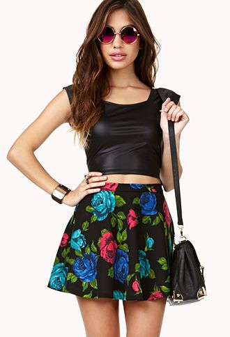 And I would also where this skirt to work with the collared-shirt and blazer. My motto is always one pop of color or more. It always helps the outfit and it looks great.