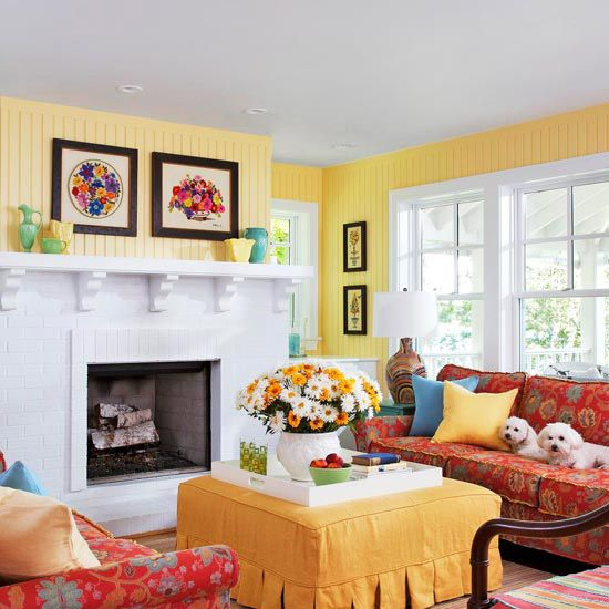 Colorful Cottage Rooms: Warm Color Schemes