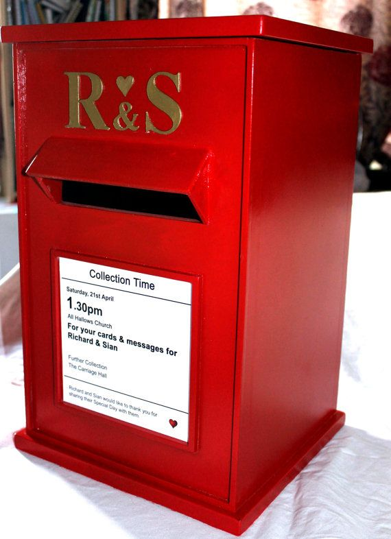 Wedding Card Post Box By Sarahmanton On Etsy 125 00