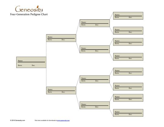 47 best Printable images on Pinterest Family tree chart - blank family tree template