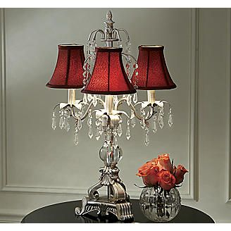Burgundy Chandelier Lamp From Seventh Avenue