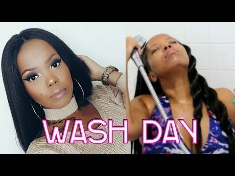 HOW TO | WASH STRAIGHT CROCHET BRAIDS (KNOTLESS CROCHET) FOR GROWTH & HEALTHY SCALP | TASTEPINK - YouTube