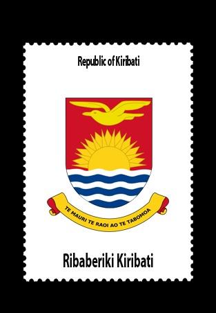 Kiribati Flag!  Best Flag in the World!  :)  Sun, waves and freedom
