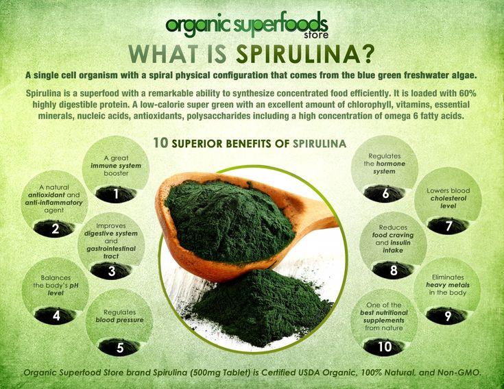 What is Organic Spirulina? Infographic
