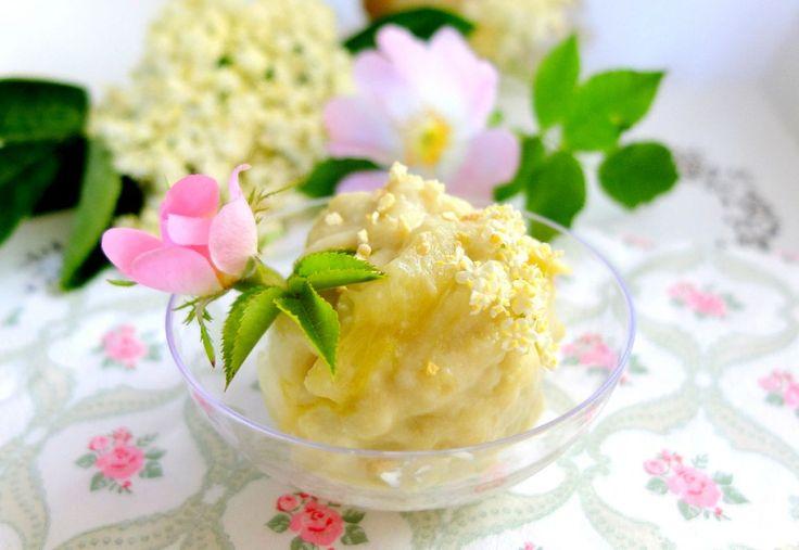 Rebarborovo-bazová zmrzlina