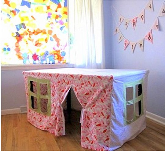 Make Your Own Table Playhouse
