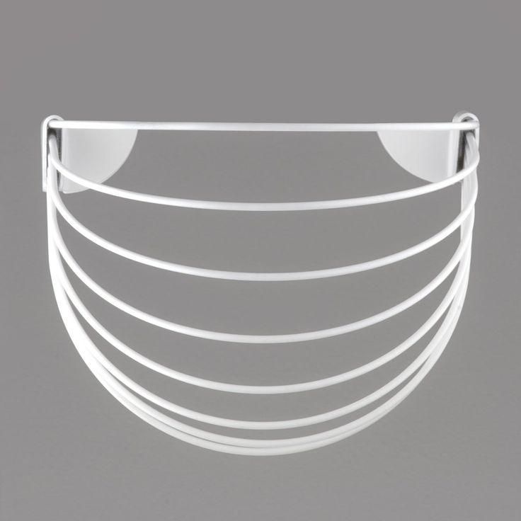 NORDIC DESIGN | Wallment Baskette wall basket in White. Powder painted metal. Finnish design.