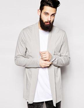 Agrandir ASOS - Cardigan long en jersey avec col châle