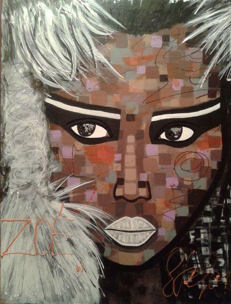 Zoé by STEAFANO acrylic on canvas(50x60cm) fashion art 2015 portrait,paint,painter,painting,modernpainting,art,fineart,fashion,fashionart,artist