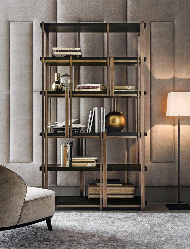 Mondrian/17 bookshelf design Massimiliano Raggi for Casamilano collection, proposed in the new finishes.