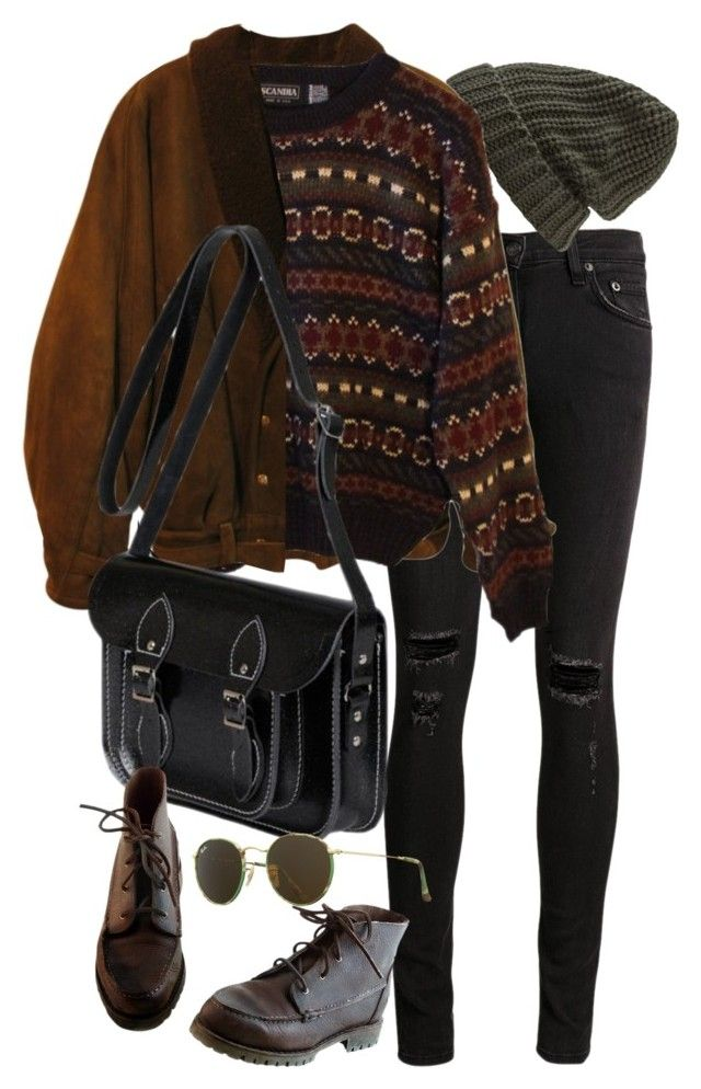 """""""Untitled #9723"""" by nikka-phillips ❤ liked on Polyvore featuring rag & bone/JEAN, Forever 21, Zoot, INDIE HAIR, The Cambridge Satchel Company, Timberland and Ray-Ban"""
