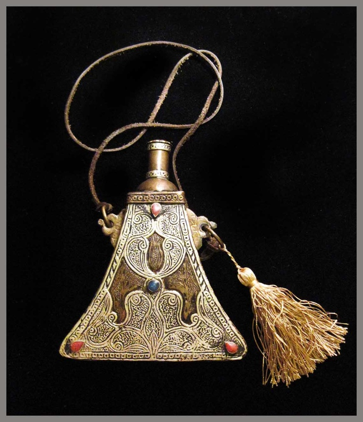 "Sticluta ""Vintage Gunpowder Flask""- Argint,LapisLazuli,Coral -100 Lei Reducere de RalucaElvenDesign Breslo"