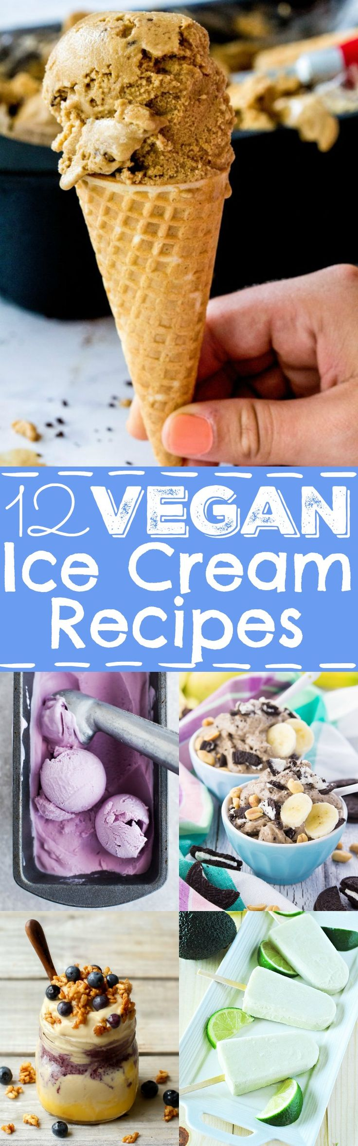 12 vegan popsicles and ice creams you really need to try this summer! They're all dairy-free, creamy, super yummy, and some are even incredibly healthy!