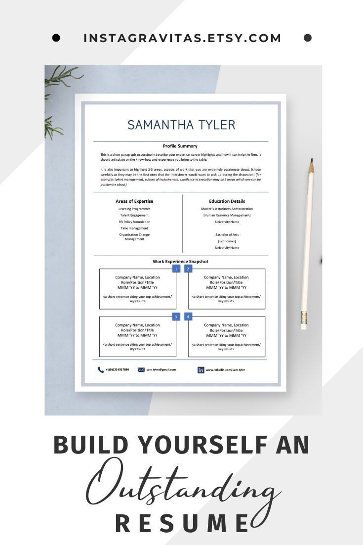 1 Page Resume Template One Page Resume One Page Minimalist Cv