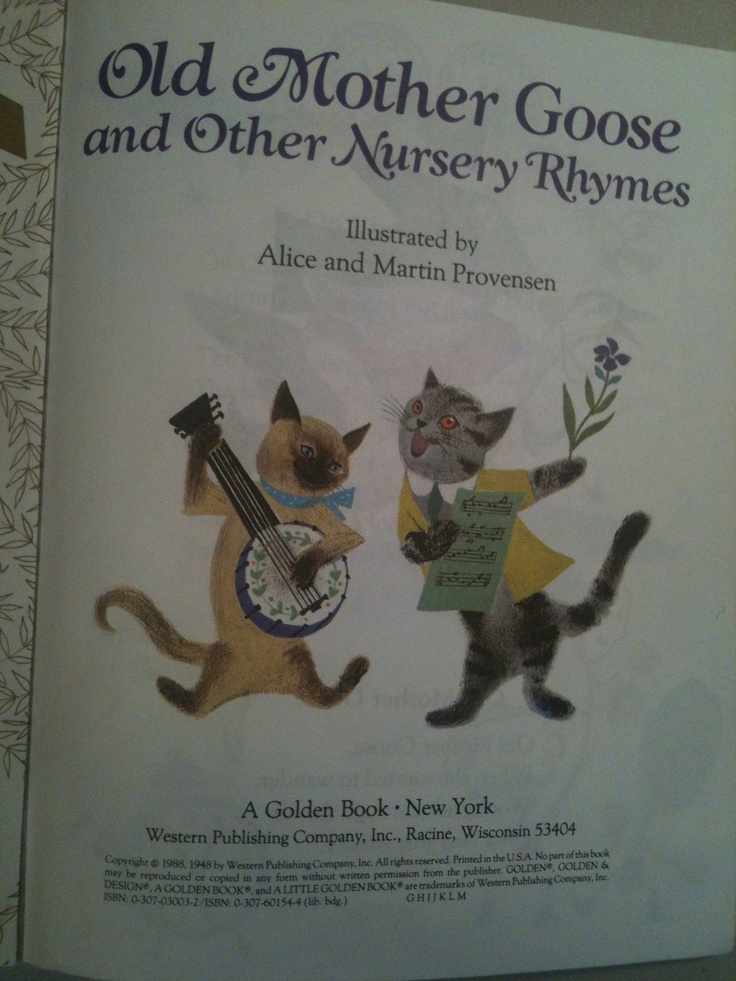Old Mother Goose Little Golden Book Nursery Rhymes Vintage 1988
