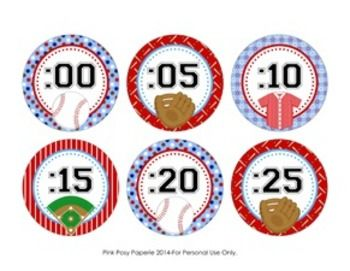 These sweet baseball theme clock numbers are great to help your students tell time. They match the other baseball theme items I have in my store.The labels measure 3 inches. Print onto cardstock and laminate for sturdiness. Trim and adhere to the wall around your clock.File includes two 8 1/2 x 11 pages.