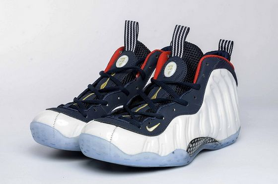 bfb0af2239cb26 Nike Air Foamposite One Olympic Obsidian University Red Metallic Gold White  575420 400 Factory Authentic Sneaker