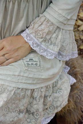 Kleid Tunika von Jeanne d´ Arc Living beige Elfe Romantisch in Kleidung & Accessoires, Damenmode, Blusen, Tops & Shirts   eBay
