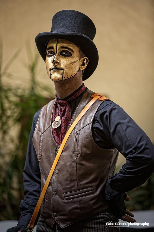 Steampunk makeup for men  I can dig.   #renratsguide