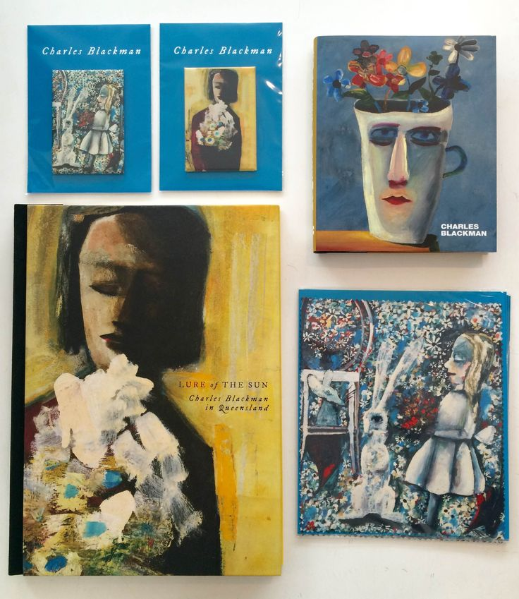 Check out all the Charles Blackman products we have to offer across our QAGOMA stores // ft. Lure of the Sun catalogue, magnets, lens cloth and Charles Blackman book