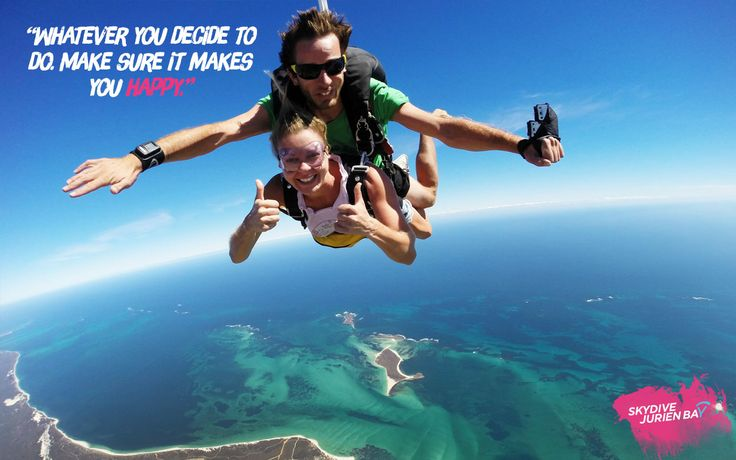 Inspirational desktop wallpaper. Skydive Jurien Bay. Perth, Western Australia. Do what makes you happy.