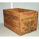 old wooden ammo boxes | Image 1 VINTAGE WINCHESTER STAYNLESS RANGER SUPER WOOD AMMO BOX
