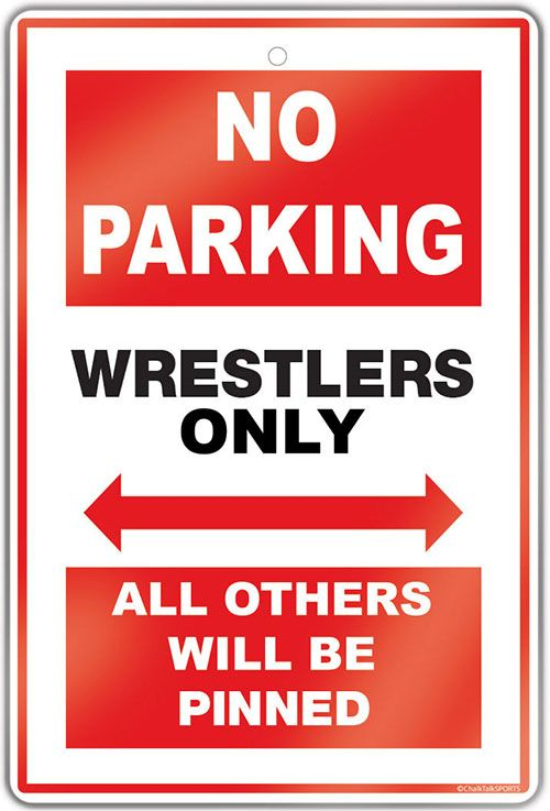 "Create a wrestling theme in any room with this 18"" X 12"" aluminum room sign.  A great gift for an avid wrestler, fan or coach!"