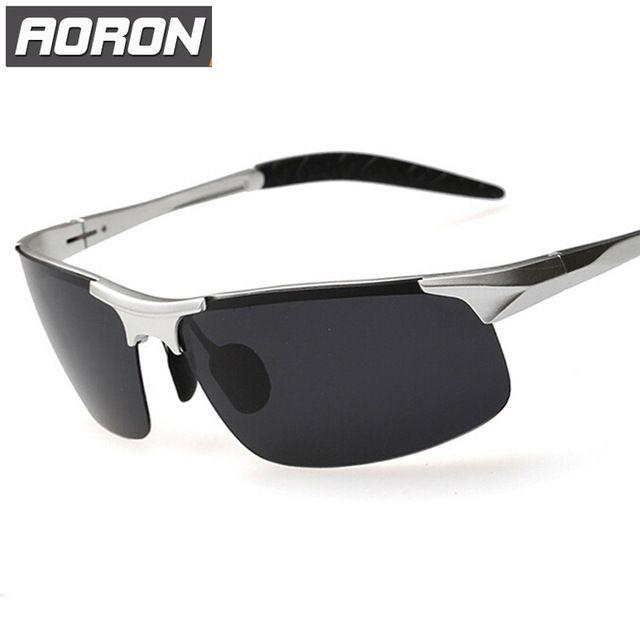 Aoron магнийалюминиевый поляризованные UV400 очки для вождения автомобиля спортивные мужчины рыбалка мужчин известная марка солнцезащитные очки мужская