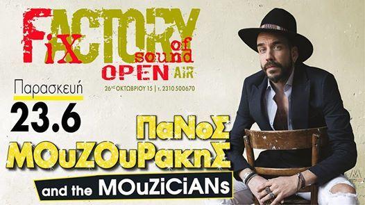 """Πολυτάλαντος,ανανατρεπτικος και ο ορισμός του """" μια κατηγορία μόνος του""""!! Ο Πάνος Μουζουρακηδ έρχεται @fix_factory open air!! #mouzourakis #fixfactoryofthedound #thessaloniki"""