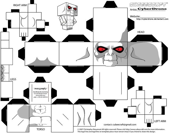 Killface from Frisky Dingo Paper Toy | Free Printable