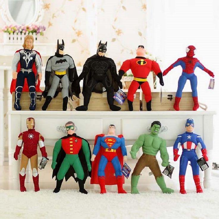 The Avengers Action Figure Toys 40cm Spiderman Batman Superman Ironman Hulk Captain America Thor Marvel Avengers Figure Toys