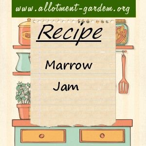 Recipe for Marrow Jam. You'll need to use jam sugar for this (or ordinary sugar…