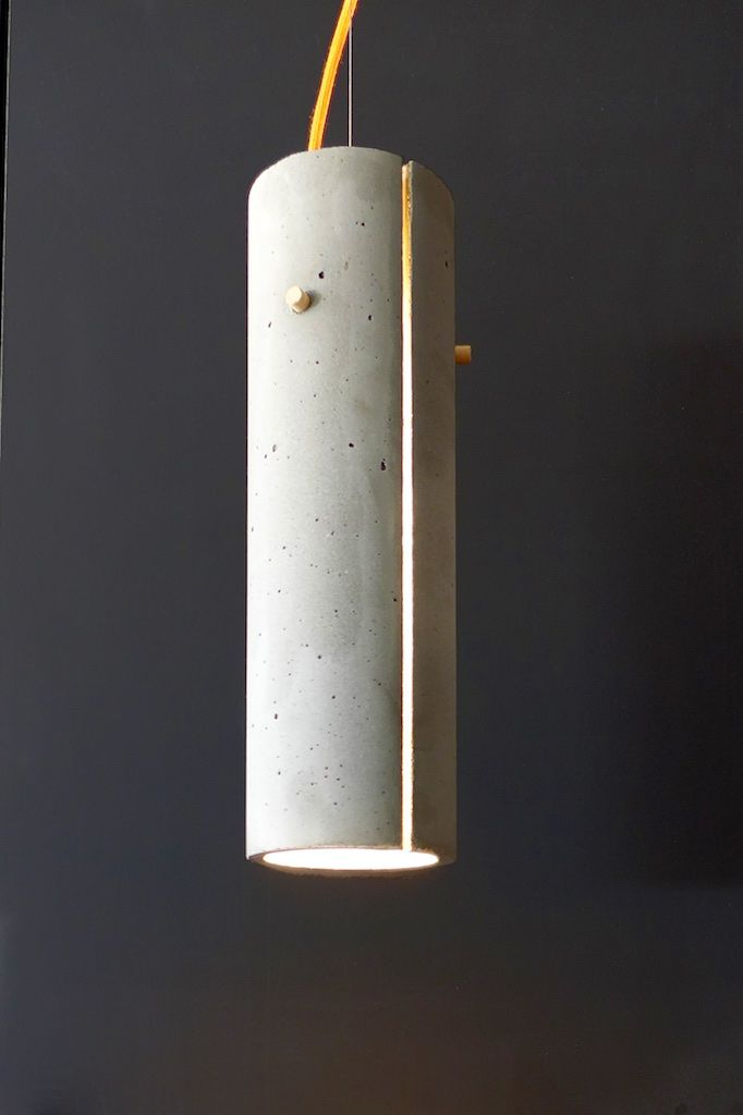 hand made concrete lamp