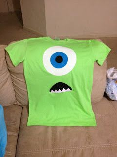 Nic Knacks: DIY Monster's Inc. Mike Wizowski Shirt