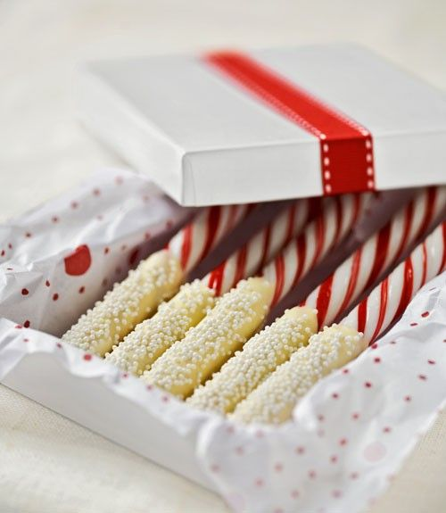Candy Cane dipped in white chocolate